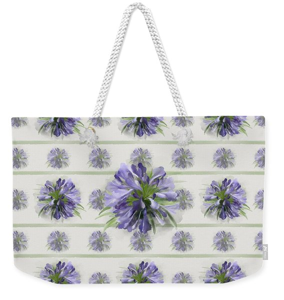 Blue Purple Flowers Weekender Tote Bag