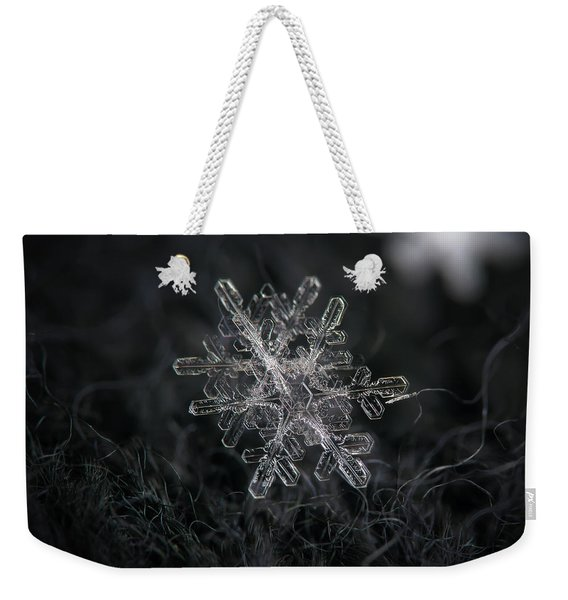 Snowflake Photo - January 18 2013 Grey Colors Weekender Tote Bag