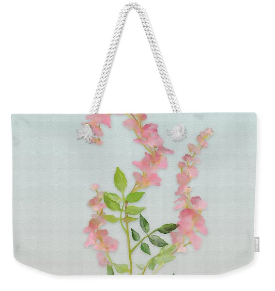 Pink Tiny Flowers Weekender Tote Bag