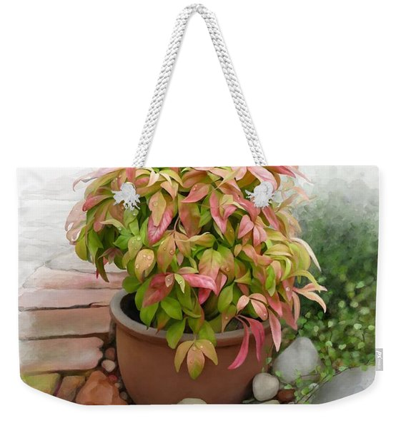 Dew On Leaves Weekender Tote Bag