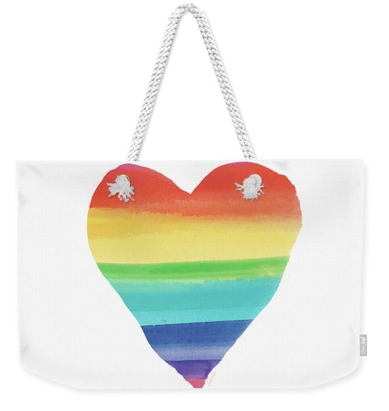 Rainbow Heart- Art By Linda Woods Weekender Tote Bag