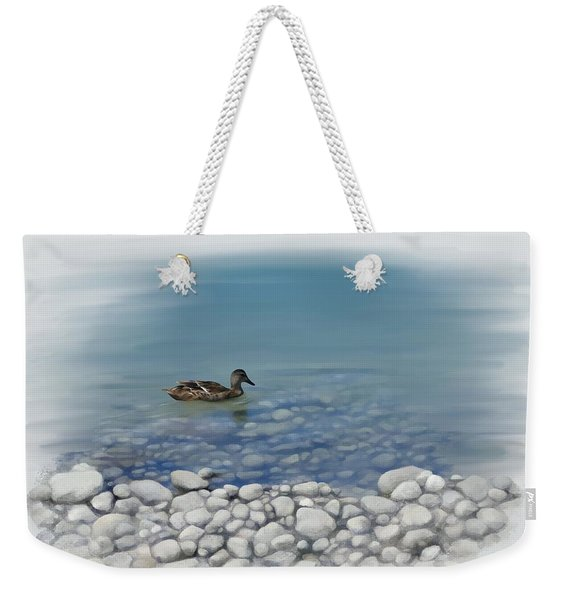 Clear Water  Weekender Tote Bag