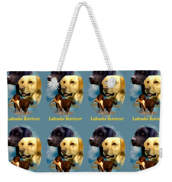 Labrador Retriever With Name Logo Weekender Tote Bag