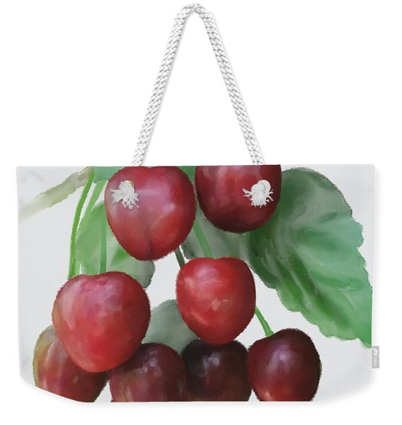 Sour Cherry Weekender Tote Bag