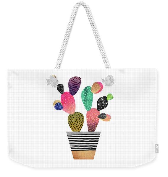 Happy Cactus Weekender Tote Bag