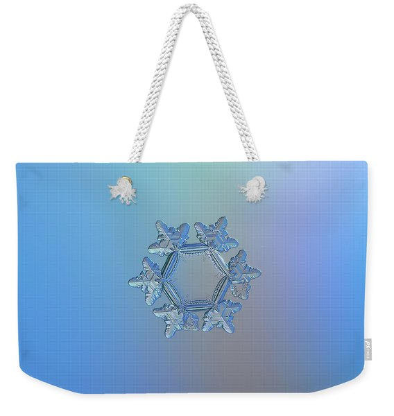 Snowflake Photo - Sunflower Weekender Tote Bag