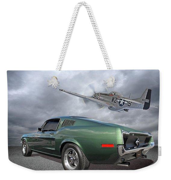P51 With Bullitt Mustang Weekender Tote Bag