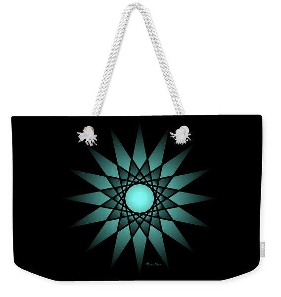 Turquoise Ombre Deep Gaze Mandala Weekender Tote Bag