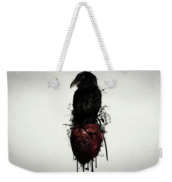 Raven And Heart Grenade Weekender Tote Bag