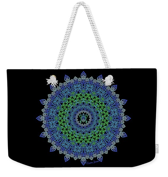 Tara's Tribal Turtle Mandala Weekender Tote Bag