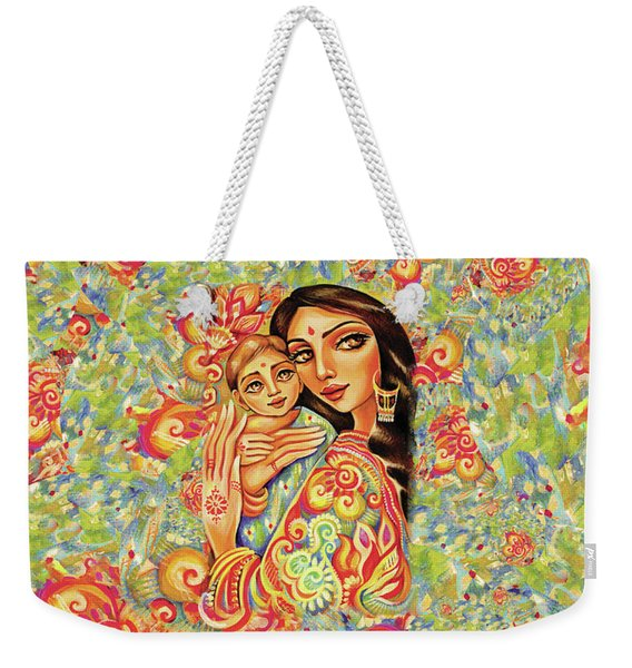 Goddess Blessing Weekender Tote Bag