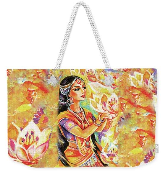 Pray Of The Lotus River Weekender Tote Bag