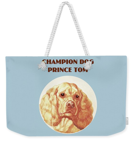 Weekender Tote Bag featuring the painting Champion Dog Prince Tom by Marian Cates