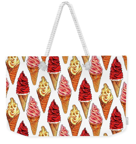 Soft Serve Pattern Weekender Tote Bag