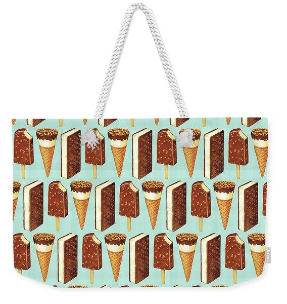Ice Cream Novelties Pattern Weekender Tote Bag