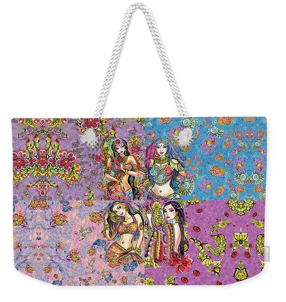 Eastern Flower Weekender Tote Bag