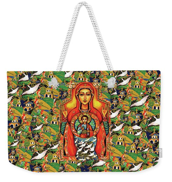 Our Lady Of The Sign Weekender Tote Bag
