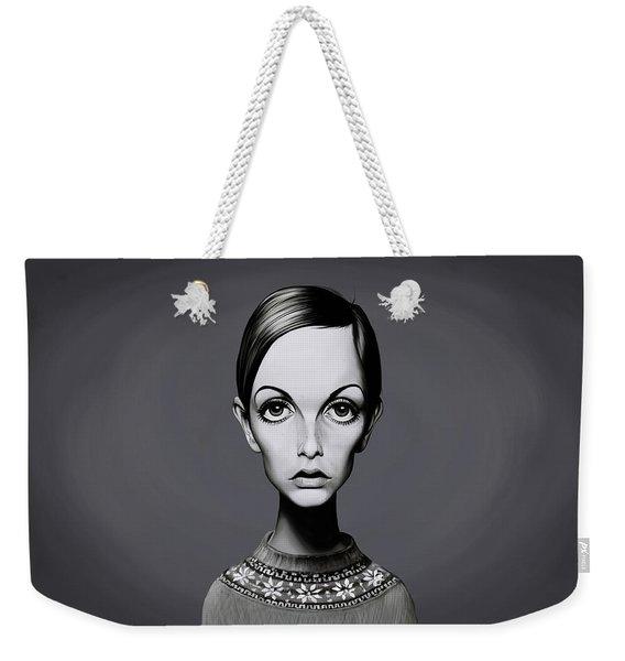 Celebrity Sunday - Twiggy Weekender Tote Bag