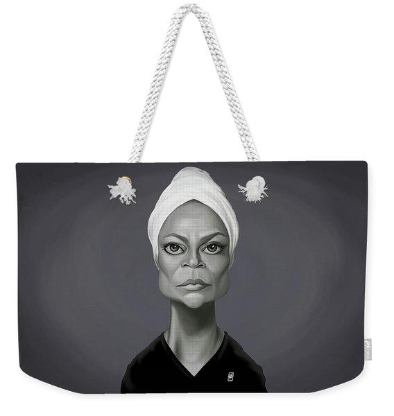 Celebrity Sunday - Eartha Kitt Weekender Tote Bag