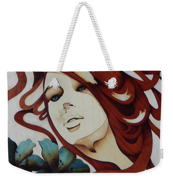 Beautiful Blue Eyes Woman Weekender Tote Bag