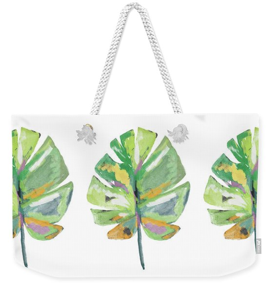 Watercolor Palm Leaf- Art By Linda Woods Weekender Tote Bag