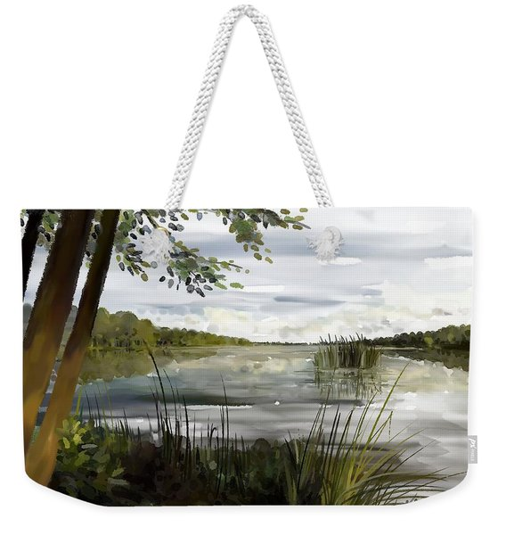 Quiet Day By Lake Weekender Tote Bag