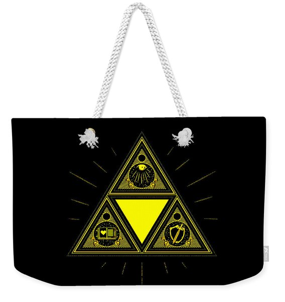 Zelda Triangle Triforce Weekender Tote Bag