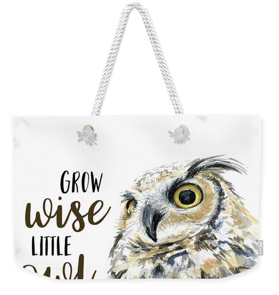 Grow Wise Little Owl Weekender Tote Bag