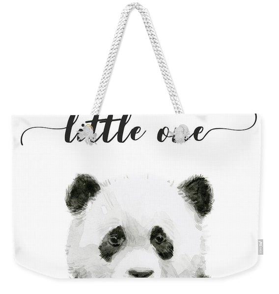 Baby Panda Hello Little One Nursery Decor Weekender Tote Bag
