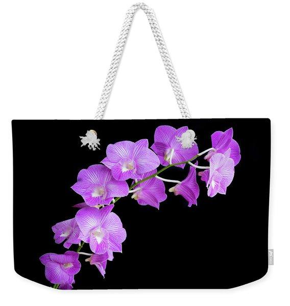 Vivid Purple Orchids Weekender Tote Bag