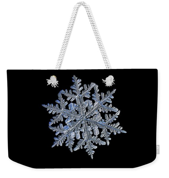 Snowflake Macro Photo - 13 February 2017 - 3 Black Weekender Tote Bag