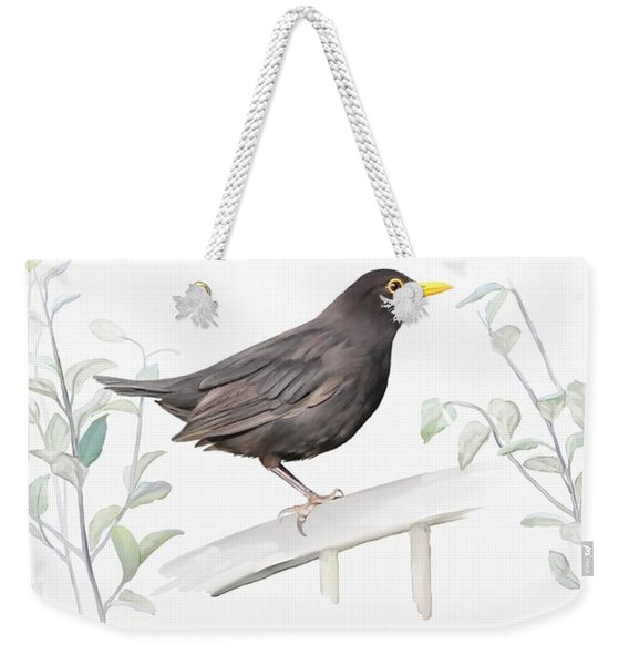 Ms. Blackbird Is Brown Weekender Tote Bag