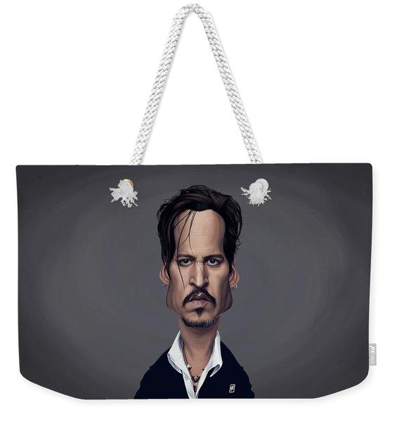 Celebrity Sunday - Johnny Depp Weekender Tote Bag