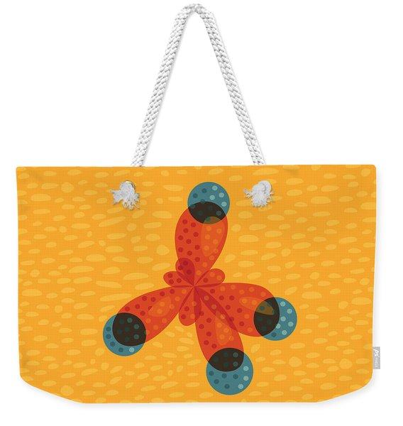 Orange Methane Molecule Weekender Tote Bag