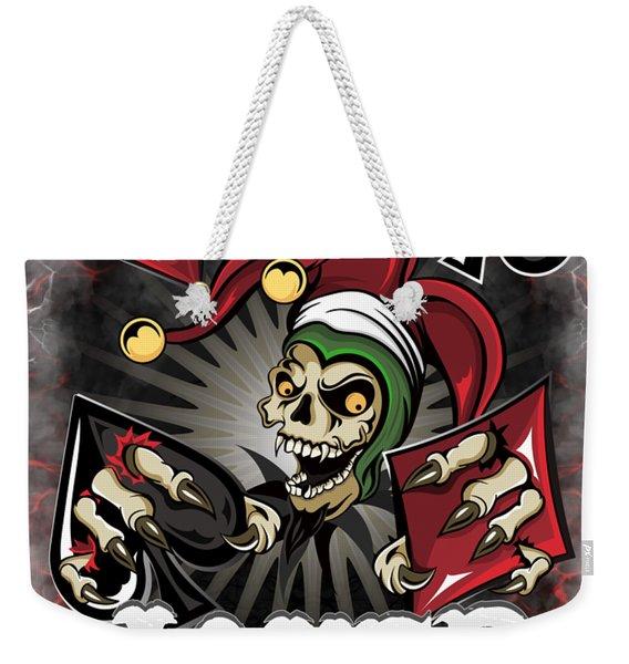 Joker Poker Skull Weekender Tote Bag