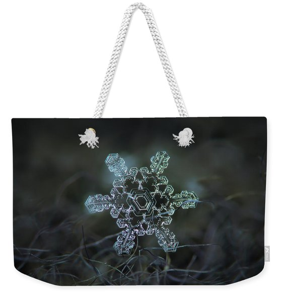 Real Snowflake - Slight Asymmetry New Weekender Tote Bag