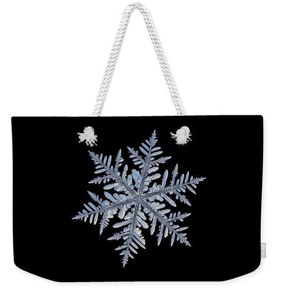 Real Snowflake - Silverware Black Weekender Tote Bag