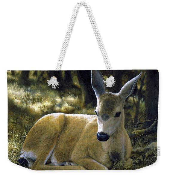 Mule Deer Fawn - A Quiet Place Weekender Tote Bag