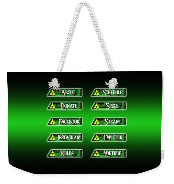 Triforce Profile Set Weekender Tote Bag