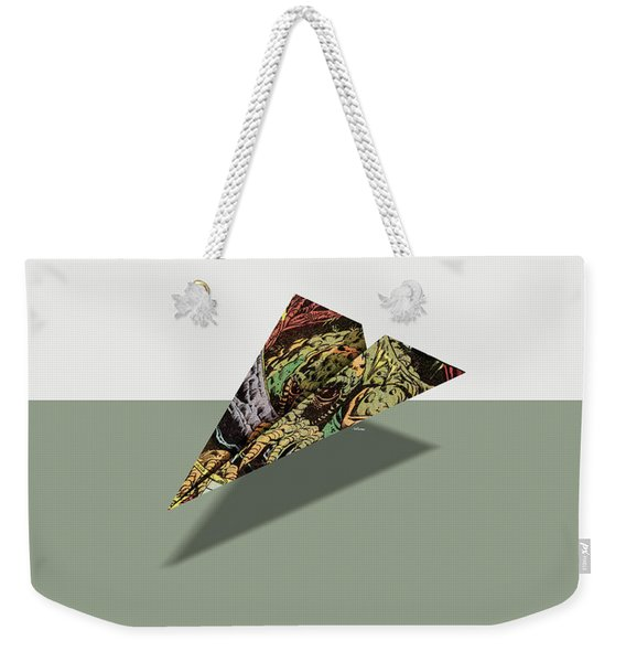 Adventure Into Fear Comic Book Ad Paper Airplane Weekender Tote Bag