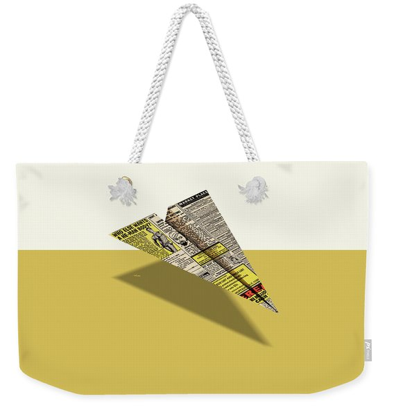 He-man Body Comic Book Ad Paper Airplane Weekender Tote Bag