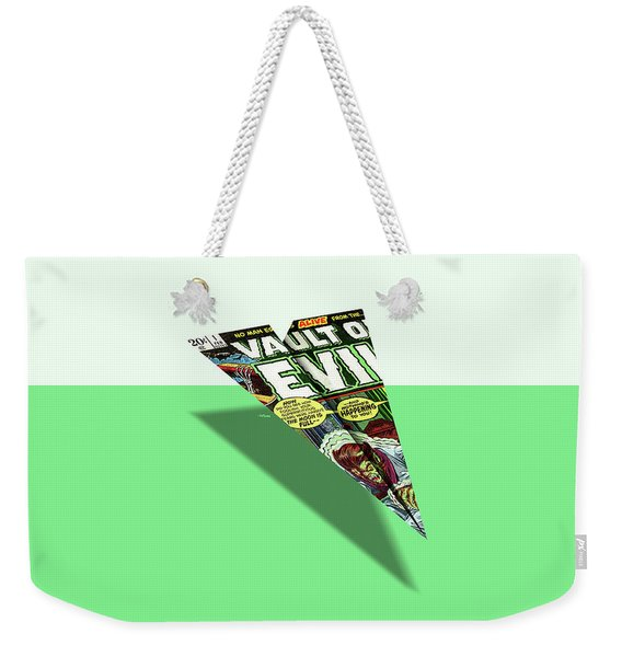 No Man Escapes Alive Comic Book Cover Paper Airplane Weekender Tote Bag