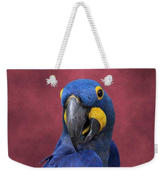 Cheeky Macaw Weekender Tote Bag