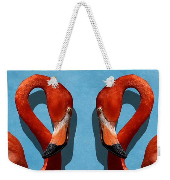Curves, A Head - A Flamingo Portrait Weekender Tote Bag