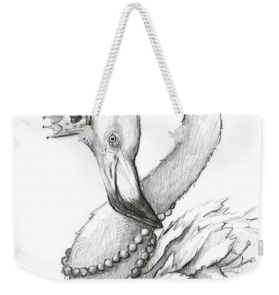 Flamingo In Pearl Necklace Weekender Tote Bag