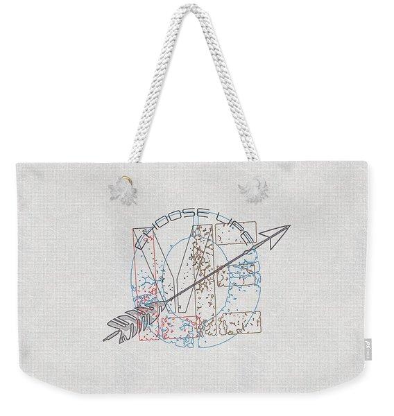 Choose Life Weekender Tote Bag