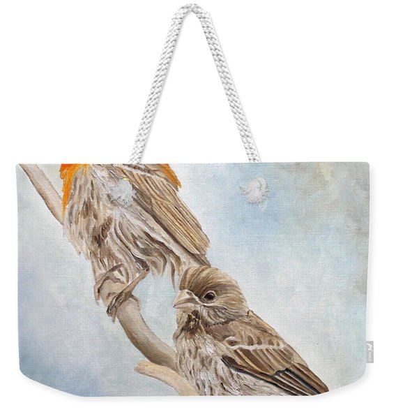 House Finch Couple Weekender Tote Bag