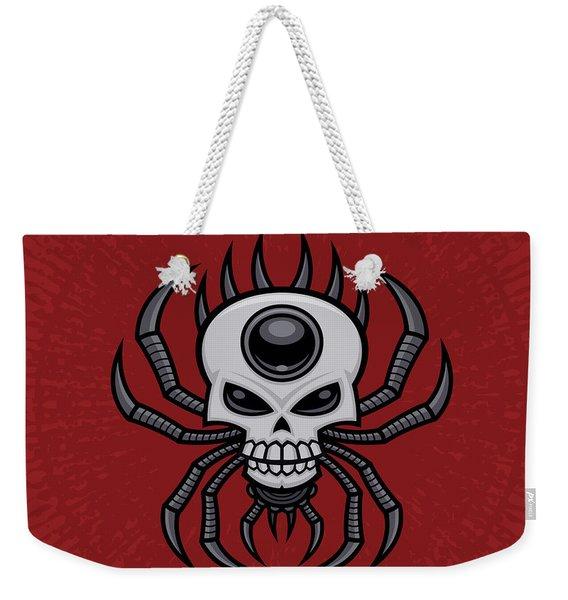 Skull Spider Weekender Tote Bag