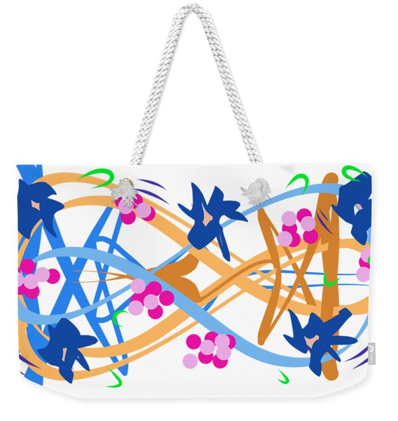 Weekender Tote Bag featuring the digital art Abstract Garden #3 by Bee-Bee Deigner
