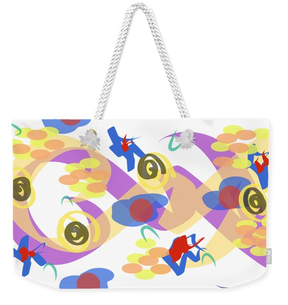 Abstract Garden #5 Weekender Tote Bag
